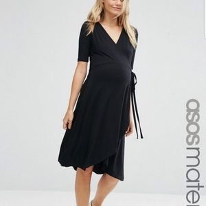 Asos maternity nursing wrap dress